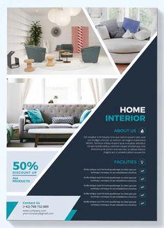 Modern Interior Flyer by UnicodeID on Envato Elements Poster Art, Design Poster, Ad Design, Layout Design, Company Profile Design Templates, Flyer Design Templates, Flyer Template, Standee Design, Banner Design