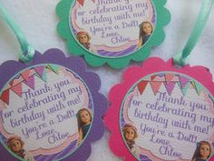 American Girl Doll Party Favor Tags12 pack. $10.00, via Etsy.