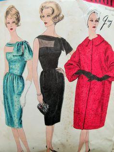 Vintage Vogue 1492 Sewing Pattern, Guy Laroche, 1960s Dress Pattern, Cocktail Dress, Vogue Paris Original, Coat Pattern, Bust 34, Designer by sewbettyanddot on Etsy