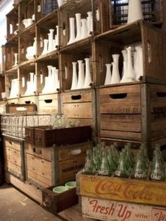 I think I might steel this idea! LOL What a great way to display and store milk glass :):