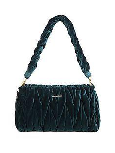 Miu Miu - Matelassé Velvet Shoulder Bag 682630b2590e2