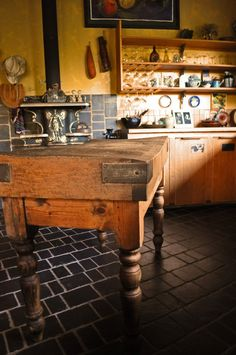 love antique butcher block tables