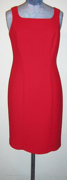 80s sleeveless red sheath cocktail dress 8 by ChloeandNatalieVtg, $29.00