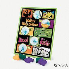 """""""Boo Bunch"""" Halloween Bean Bag Toss Game"""