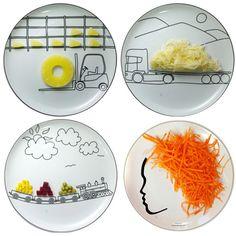 Assiettes pour que vos enfants mangent des légumes