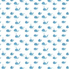 blue whale surface pattern design painted in gouache