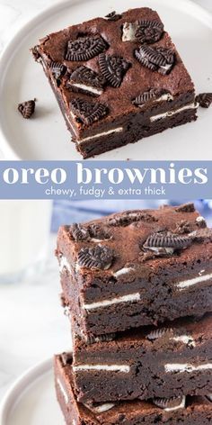 Brownies With Oreos, Easy Oreo Brownies Recipe, Brownie Oreo Cookie, Oreo Recipe, Chocolate Oreo Cake, Best Brownie Recipe, Best Chocolate Desserts, Oreo Desserts, Oreo Cookies