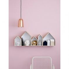 This copper plated pendant light from Bloomingville is pure and simple. The warm lustre of copper offset with the bold black line of flex are a striking combination. Copper Pendant Lights, Contemporary Pendant Lights, Pendant Lamp, Modern Lighting, Pendant Lighting, House Shelves, Wall Shelves, Box Shelves, Wall Storage
