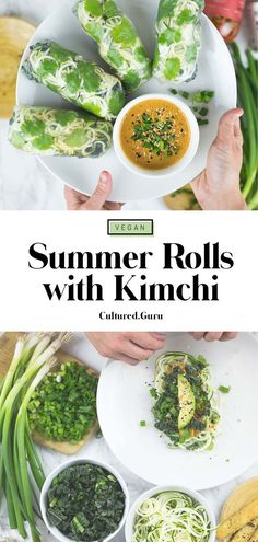 Making vegan summer rolls is our favorite way to get a heaping dose of many prebiotic foods. This recipe will teach you how to make a delicious summer roll. You will also learn how to mix up your ingredients to keep things fresh. Tofu Recipes, Delicious Vegan Recipes, Spicy Recipes, Vegetarian Recipes, Healthy Recipes, Korean Recipes, Vegetarian Lunch, Healthy Lunches, Lunch Recipes