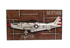1943 Grey Mustang was an American long-range, single-seat fighter P51 Mustang, Aviation Decor, Steampunk Airship, Metal Art Sculpture, Decoration Piece, Korean War, Royal Air Force, Model Airplanes, Model Ships
