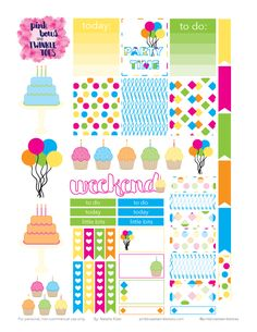 PBTT: Free Party Time Sticker Sheet