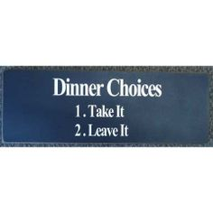 Plaque - Dinner Choices Red Dog, Funny Signs, Dog Gifts, Choices, Card Holder, Personalized Items, Dinner, Cards, Dining