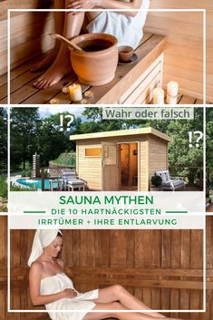 Sauna: Nehmen wir durch einen Saunagang ab? Ist eine Sauna eine Bazillenschleuder? Dürfen Schwangere nicht in die Sauna? Es gibt einige hartnäckige Mythen, die sich beständig halten. Wir klären auf, welche Mythen es gibt und entlarven sie. #Saunieren #Entspannung #Saunaoase Panama Hat, Ideas, Panama