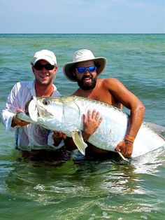 Credit: Lauren Dunston    Place: st george sound    Fish: tarpon    Weight: 130lbs    Caught By: Capt Tucker Strickland    My buddy called me one day and said he wanted to see what all the fuss was about. Something about tricking a 150 lb prehistoric fish into eating a hand crafted fly intrigued him. I penciled him into my book when I had a free afternoon and the picture tells the rest. We had four tarpon to the boat in four hours and he was hooked.