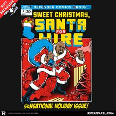 Santa For Hire T-Shirt - Luke Cage T-Shirt is $11 today at Ript!