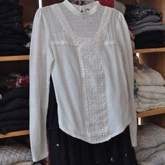 Breathtaking details! Delicately romantic white-on-white texture. Lace layers and pleated pin-tucks complete this lovely blouse. $98    The Children's Hour Bookstore & Boutique    Clothing  Gifts  Toys  Shoes    898 South 900 East    Salt Lake City Utah    801.359.4150    childrenshourbookstore.com