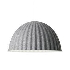 A simple half sphere grey felt light