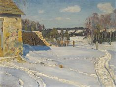 Sergei Vinogradov  Winter Landscape  1926 Oil on canvas 54 x 71 cm  Private collection