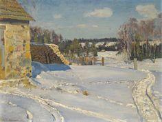 Sergei Vinogradov Winter Landscape 1926 Oil on canvas 54 x 71cm  Private collection