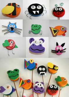 bottle cap animals
