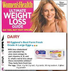 Women's Health 125 Best Packaged Foods for Women - Best Egg 2009-2011 #egglandsbest