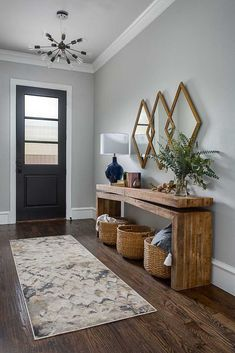 beautiful entryway inspiration The post Small Entryway Decor Ideas appeared first on Dekoration. beautiful entryway inspiration The post Small Entryway Decor Ideas appeared first on Dekoration. Entryway Console Table, Rustic Entryway, Entryway Ideas, Modern Entryway, Hallway Ideas, Fall Entryway, Entry Tables, Foyer Furniture, Small Entryway Tables