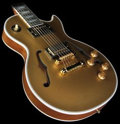 Gibson Custom Shop Limited Run Les Paul Custom Florentine Electric Guitar Gold Sparkle Top