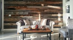 Breathtaking... This is an AMAZING barnwood #accentwall done by a couple of #DIY clients of ours. This is a great shot of our Seasonal Mix! The subtle hints of white are what make this a really nice choice!  Check us out at Oldfashionedlumber.com to get your RECLAIMED LUMBER!
