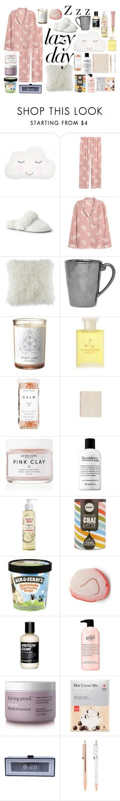 """Lazy DAys"" by florence2000 ❤ liked on Polyvore featuring Lands' End, BCBGeneration, Juliska, Veda, Aromatherapy Associates, Herbivore, Burt's Bees, philosophy, Living Proof and AERIN"