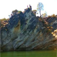 Jumping Rock at Cantinas Creek Lake Nacimiento