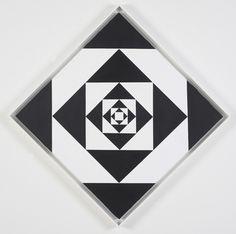 Ward Jackson, Homage to JFK, 1963, Acrylic on canvas, 34 x 34 inches diagonal, MINUS SPACE