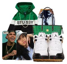 """Untitled #134"" by thatgurlcandii ❤ liked on Polyvore featuring Stussy, MCM, Retrò and Giani Bernini"