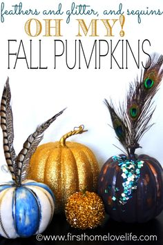 Get creative with thrift store finds this Halloween to make the most of your decorations! Use paint, glitter, sequins, and feathers to spruce up some dull pumpkins and make them the focal part of any Halloween party!