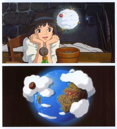 """The Day I Harvested a Star 星をかった日 (Hoshi o Katta Hi) Ghibli Museum Art Booklet Hoshi o Katta Hi lit. """"The Day I Raised (Harvested) a Planet"""" is an animated short film directed by Hayao Miyazaki and..."""