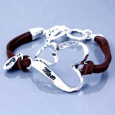 "Cowgirl Bling Ranch, LLC - ""Mom"" Heart Bracelet, $12.99 (http://www.cowgirlblingranch.com/mom-heart-bracelet/)"