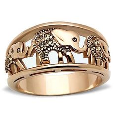 Cute elephant rose gold ring. Ships within 1.5 weeks. Available in multiple sizes. King Jewelry Bracelets