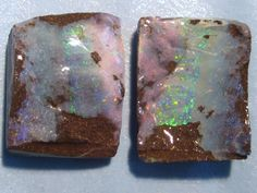Pretty pair of Australian Queensland Boulder Opal Splits - available in our Opal store :)