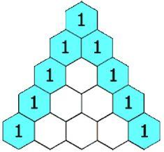 La hoja de ejercicios de matemáticas de Triángulo de Pascal (Relleno ...