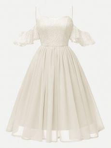 Lace Chiffon Patchwork Strap Party Dress - - Vinfemass Lace Chiffon Patchwork Strap Party Dress Source by Fanfavor Trendy Dresses, Cute Dresses, Beautiful Dresses, Vintage Dresses, Short Dresses, Casual Dresses, Dresses Dresses, Vintage Clothing, Girls Dresses