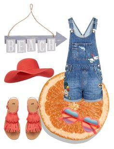 """Beach girl☀️"" by renicherie on Polyvore featuring moda, Topshop, Pier 1 Imports, Monsoon e Cutler and Gross"
