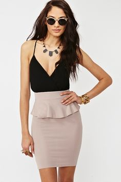 Wrapped Peplum Dress