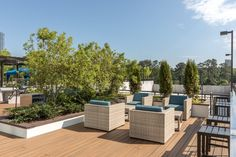Enjoy a nature escape right at home on the rooftop deck at AMLI 3464, Buckhead Atlanta's newest luxury apartment tower.