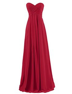 Dresstells® Sweetheart Bridesmaid Chiffon Prom Dresses Long Evening Gowns Dark Red Size 6 Dresstells http://www.amazon.co.uk/dp/B00QLZM812/ref=cm_sw_r_pi_dp_8l-cvb152XC7Z