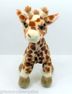 "SOLD!!!!  Ganz Webkinz Giraffe Stuffed Plush Animal Toy 12"" HM403 NO CODE on eBay"