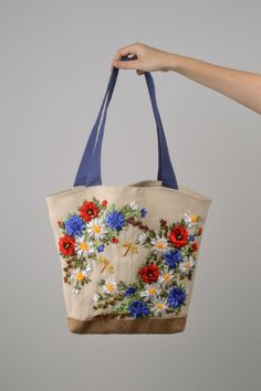 Big fabric shoulder bag