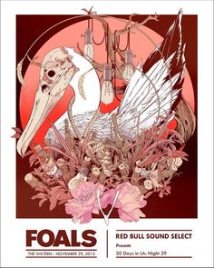 Foals, Artwork by James Fenwick Tour Posters, Band Posters, Music Posters, Retro Posters, Design Posters, Festival Posters, Concert Posters, Gig Poster, Kunst Poster