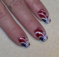 Patriotic Nail Art Designs...