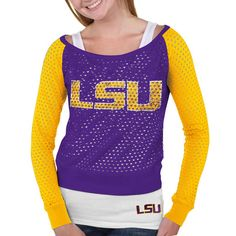 LSU Tigers Women's Purple/Gold Holy Sweatshirt