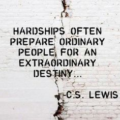 Thought of the Day: Hardships often prepare ordinary people for extraordinary destiny. #ThoughtOfTheDay pic.twitter.com/qRhDwH8U2E