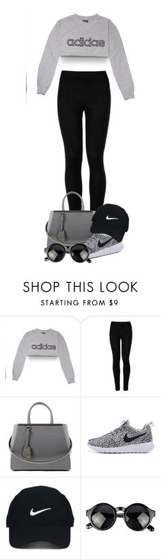 """Jogs around the park"" by tigerlily789 ❤ liked on Polyvore featuring adidas, Wolford, Fendi and Nike Golf"